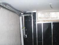 mekaniskt ventilerad vägg